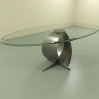 modern coffee table 3d model