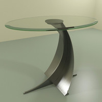 3d model modern end stand