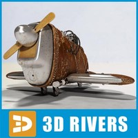 Steampunk toy plane by 3DRivers