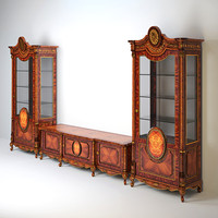 Pistolesi mobili Tresor - sideboard and 1 door cabinet
