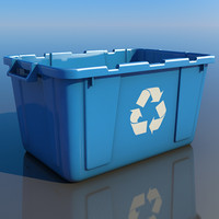 recycling bin container 3d model