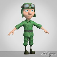 Cartoon Soldier 1