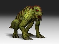 monster reptile creature 3d model