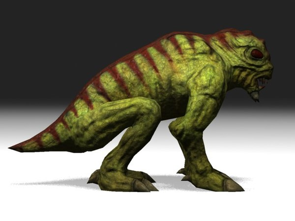 monster reptile creature 3d model - Monstrous Reptile... by 3DAssetForge