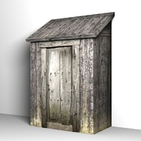 3d model of shed storage building