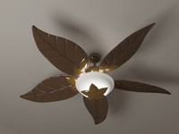 ceiling fan tropical 3d model