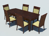 dining tropical table 3d model
