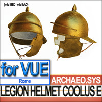 roman legionary helmet coolus 3d model