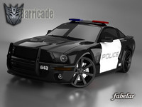 mustang shelby police car 3d model