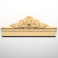 3d model lion head cartouche