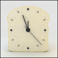 clock bread 3d model