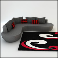 3d model promotion corner sofa designs