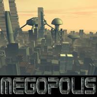 megopolis cityscape city 3d model