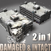 lwo destroyed intact parking garage
