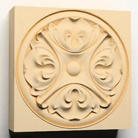rosette decoration ornamental interior wall 3d model