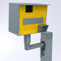 roadside speed camera 3d model
