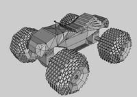 3d 4 wheeled model