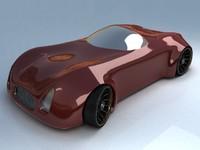 futuristic sport car