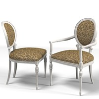 classic chair dining 3d model