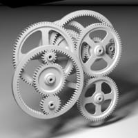 involute gears 3d model