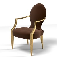 donghia chair modern 3d model