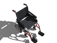3d wheelchair wheel chair