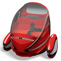 electric vehicle person 3d obj
