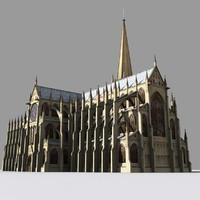 medieval cathedral gothic 3d model