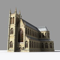 medieval church gothic cathedrals 3d model