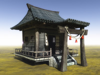 3d model hermit hut house games