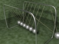 3d model of newtons cradle
