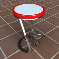 3d model modern bar cafe stool
