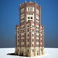 19th water tower 3d model