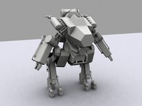 3d model mech modeled