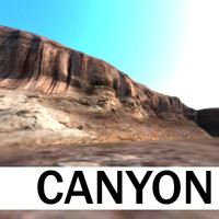 3d model canyon landscape