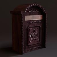 3d model mailbox wall