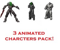 Pack  Of 3 Game Animated Characters