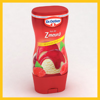 3d model icecream bottle