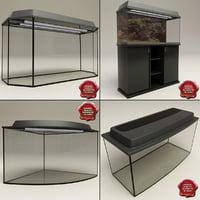3d aquariums set modelled model