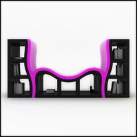 Console Bookshelf