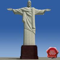 cristo redentor 3d model