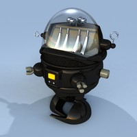 cute planet robot toy 3d model