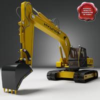 excavator hyundai 450 3d model
