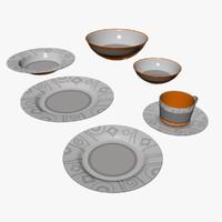 flatware plate lesser 3d model