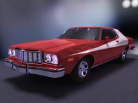 gran torino 1976 3d model