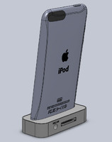 SolidWorks iPod Touch 3G Dock charger stand