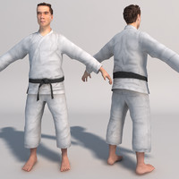 karate fighter realtime 3d model