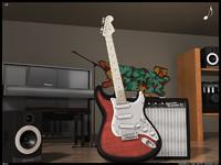 music studio 3d model