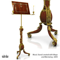 3d old music stand