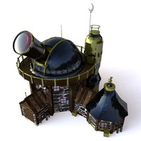 fantasy observatory building 3d model